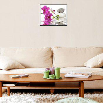 Naiyue 7149 Reflection Flowers Print Draw Diamond Drawing -  WHITE PURPLE