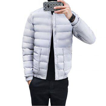 2017 Men's Handsome And Slim Clothes - GRAY 2XL