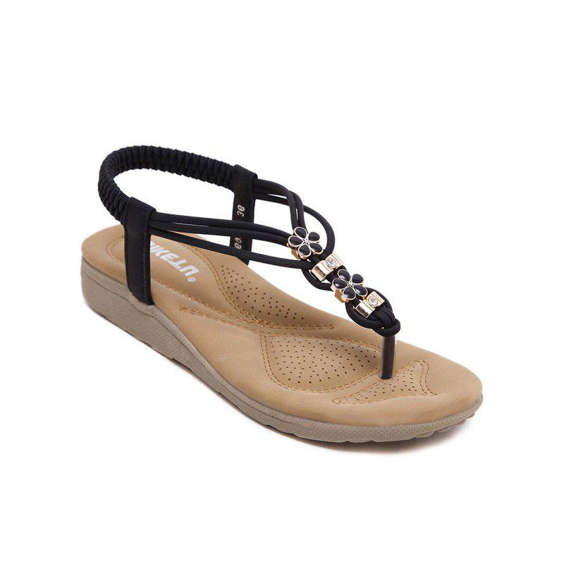 Ms Diamond Beach Slip-On Sandals - BLACK 35