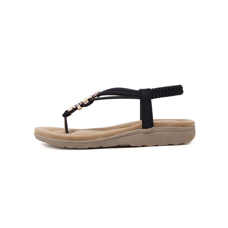 Ms Diamond Beach Slip-On Sandals - BLACK 37