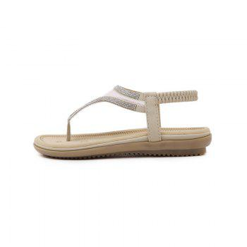 Ladies Rubber Sole Water Drill Net Clip for Sandals - APRICOT 41