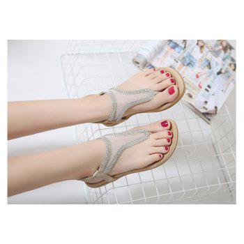Ladies Rubber Sole Water Drill Net Clip for Sandals - APRICOT 40