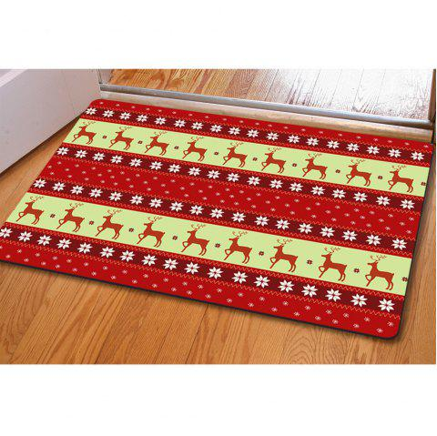 Doormat Anti Slip Entry Way Floor Mat for Bathroom Bedroom Kitchen Living Room Water-absorbing Tapetes - RED / GOLDEN
