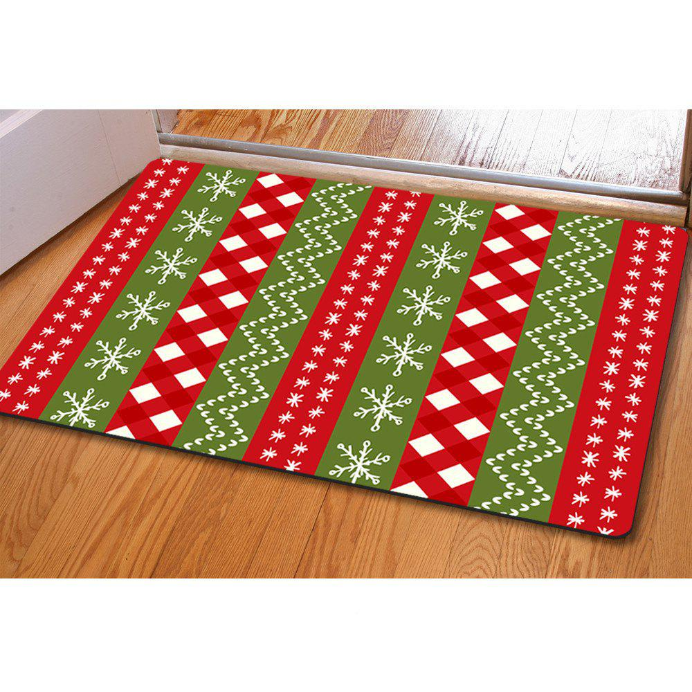 Doormat Anti Slip Entry Way Floor Mat for Bathroom Bedroom Kitchen Living Room Water-absorbing Tapetes - GREEN / CLARET