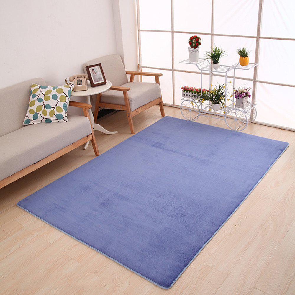 Doormat Modern Style Solid Water Proof Carpet3 - LIGHT PURPLE 40X60CM