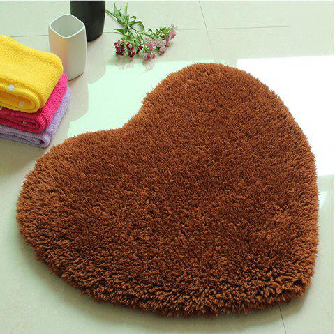 Door Mat Sweet Heart Shape Cute Home Decor Floor Mat2 - COFFEE BROWN 40X50CM