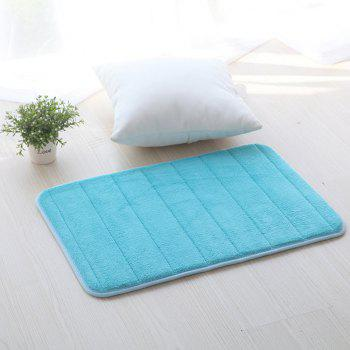 Doormat Solid Thick Antiskidding Coral Fleece Cosy Bathroom Mat - WINDSOR BLUE 40X60CM