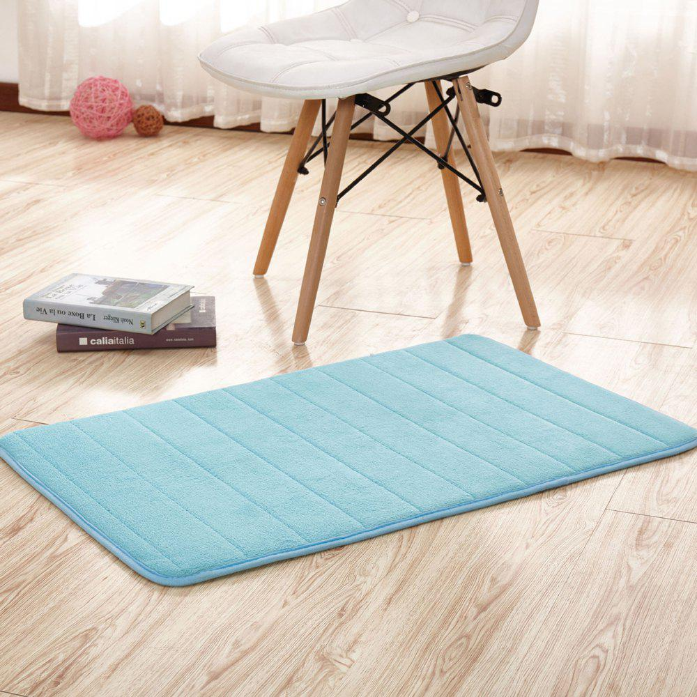 Doormat Solid Thick Antiskidding Coral Fleece Cosy Bathroom Mat - WINDSOR BLUE 80X120CM