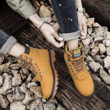 SX69 Casual Leather Shoes and Velvet Martin Boots - YELLOW BROWN YELLOW BROWN