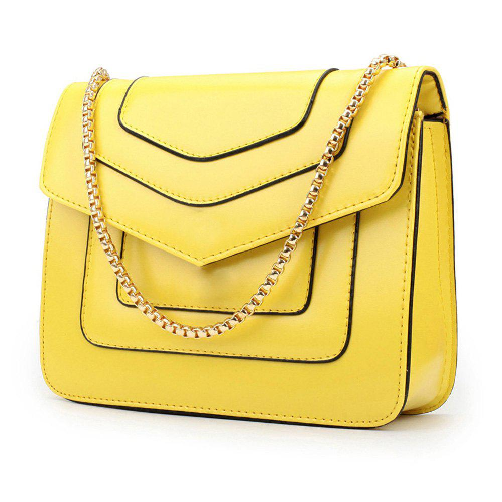 New Splicing Chain Women's Single Shoulder Slanted Slanted Crossbody Bag - DAISY
