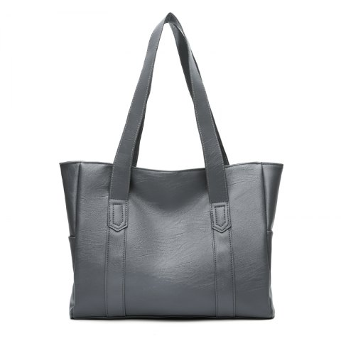 The Handbag Is A New Simple Fashion Bag with A Single Shoulder Slanted Bag - GRAY