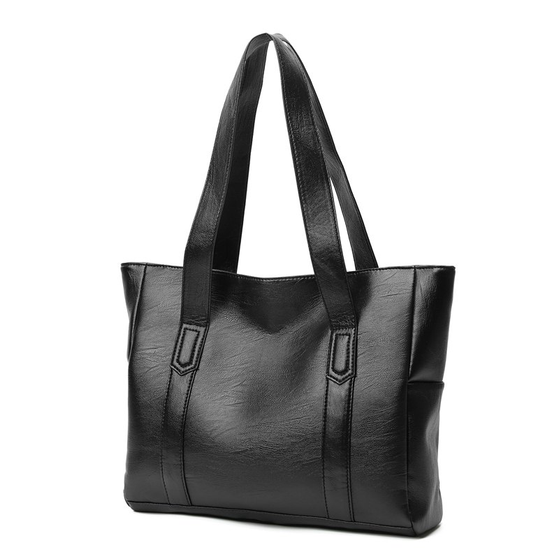 The Handbag Is A New Simple Fashion Bag with A Single Shoulder Slanted Bag - BLACK