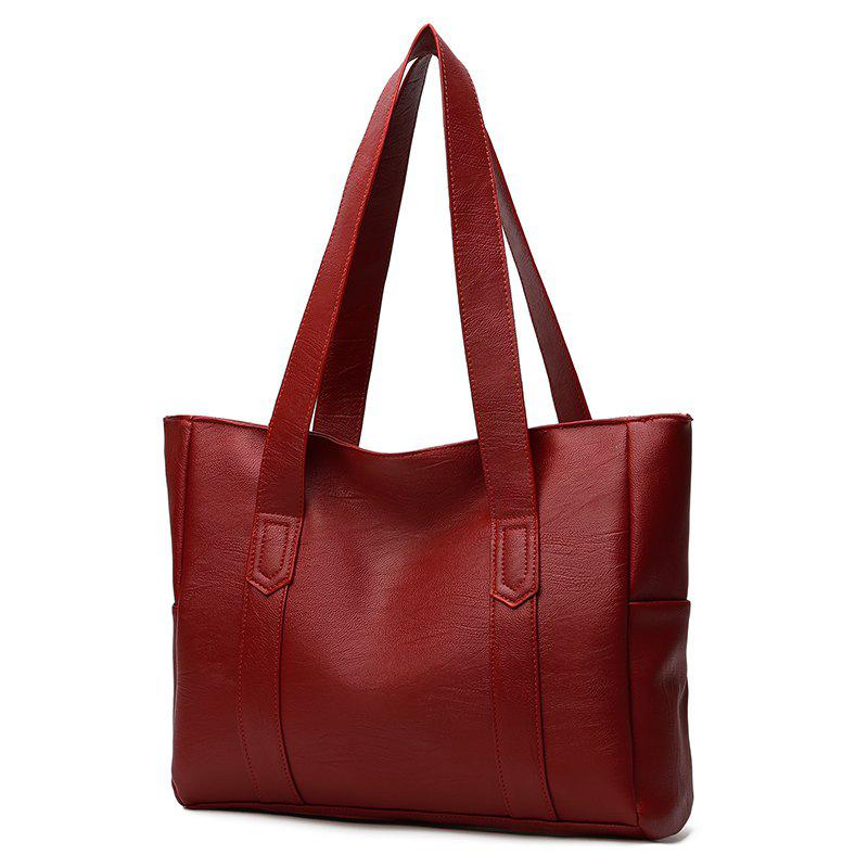 The Handbag Is A New Simple Fashion Bag with A Single Shoulder Slanted Bag - BURGUNDY