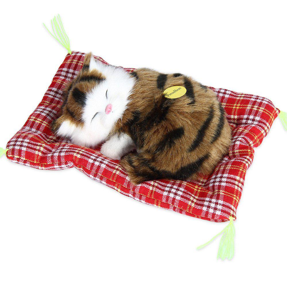 Stuffed Lovely Simulation Animal Doll Plush Sleeping Cats Toy with Sound stuffed simulation animal snake anaconda boa plush toy about 280cm doll great gift free shipping w004