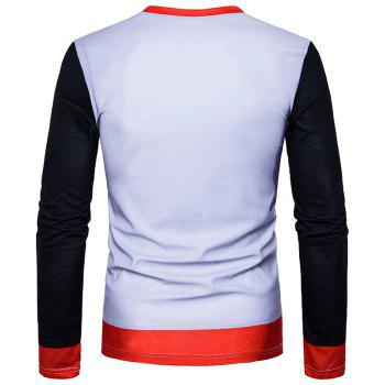 New Men'S 3D Print Figures Long Sleeved T-Shirts TV05 - WHITE 2XL