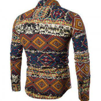 New Spring Fashion Personality Folk Style Printing Mens Long Sleeve Shirt CS04 - DAISY M