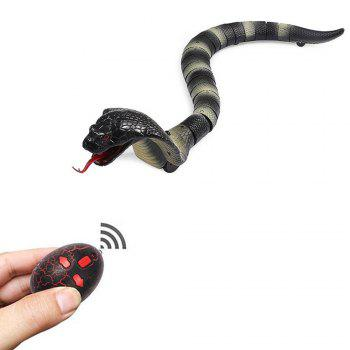 Scary Snake Infrared Remote Controlled Toy - BLACK