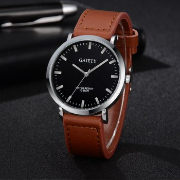 GAIETY G490 Belt Men's Business Fashion Watch - COFFEE