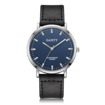 GAIETY G494 Men's Business Casual Watch - BLACK BLACK
