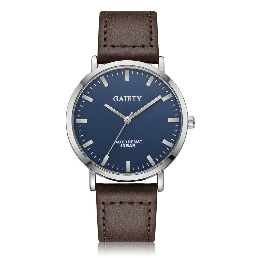 GAIETY G494 Men's Business Casual Watch - BROWN