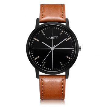 GAIETY G494 Men's Business Fashion Watch - COFFEE COFFEE