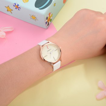 GAIETY G496 Ladies Fashion Leather Watch - WHITE