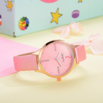 GAIETY G496 Ladies Fashion Leather Watch - PINK