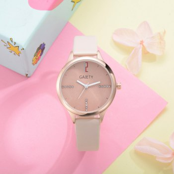 GAIETY G496 Ladies Fashion Leather Watch -  BEIGE