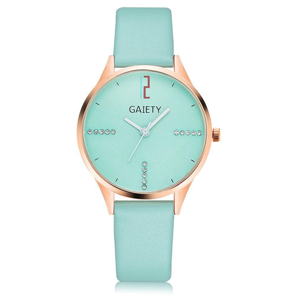 GAIETY G496 Ladies Fashion Leather Watch - SKYBLUE