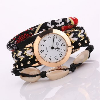Duoya D130 Women Bracelet Wristwatch Fashion Quartz Watch - BLACK