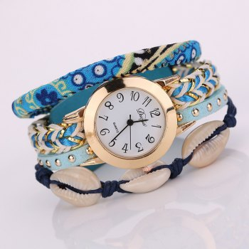 Duoya D130 Women Bracelet Wristwatch Fashion Quartz Watch - BLUE