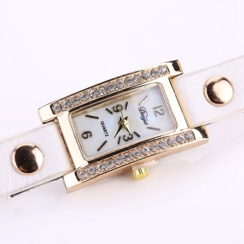 Duoya D132 Women Bracelet Watch Lady Watch Fashion -  WHITE