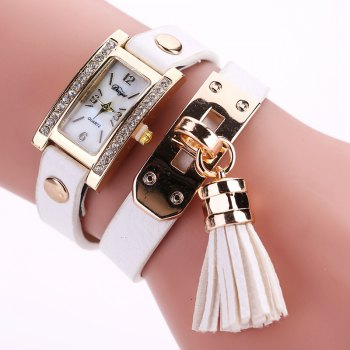 Duoya D132 Women Bracelet Watch Lady Watch Fashion - WHITE WHITE