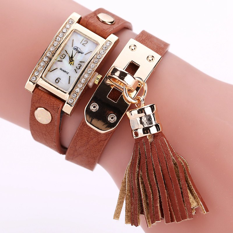 Duoya D132 Women Bracelet Watch Lady Watch Fashion - COFFEE