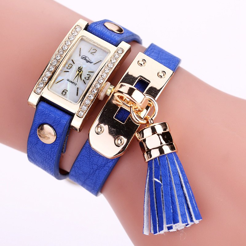 Duoya D132 Women Bracelet Watch Lady Watch Fashion - BLUE