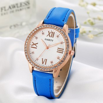 GAIETY Women's Roman Numeral Fashion Leather Band Wrist Watch G404 - COFFEE