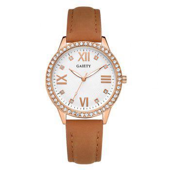 GAIETY Women's Roman Numeral Fashion Leather Band Wrist Watch G404 - COFFEE COFFEE