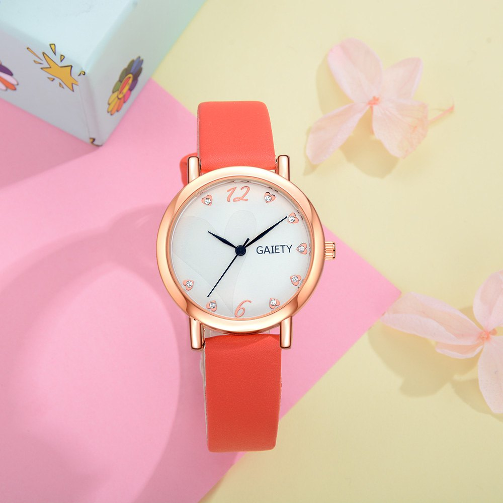 GAIETY G498 Multiple Colour Fashion Watch - RED