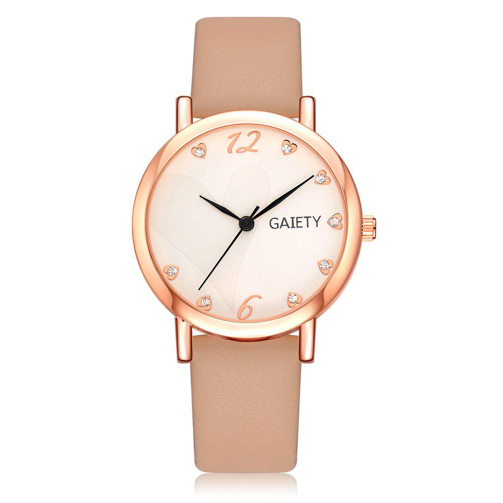 GAIETY G498 Multiple Colour Fashion Watch - BEIGE
