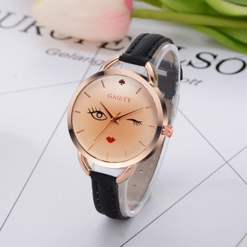 GAIETY G500 Ladies Rose Gold Fashion Watch -  BLACK