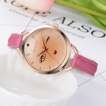 GAIETY G500 Ladies Rose Gold Fashion Watch -  ROSE RED
