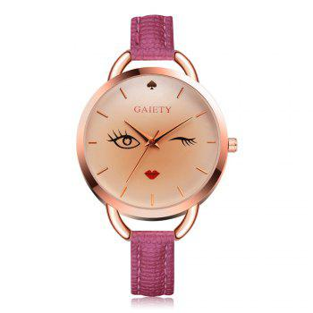GAIETY G500 Ladies Rose Gold Fashion Watch - ROSE RED ROSE RED