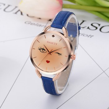 GAIETY G500 Ladies Rose Gold Fashion Watch - BLUE