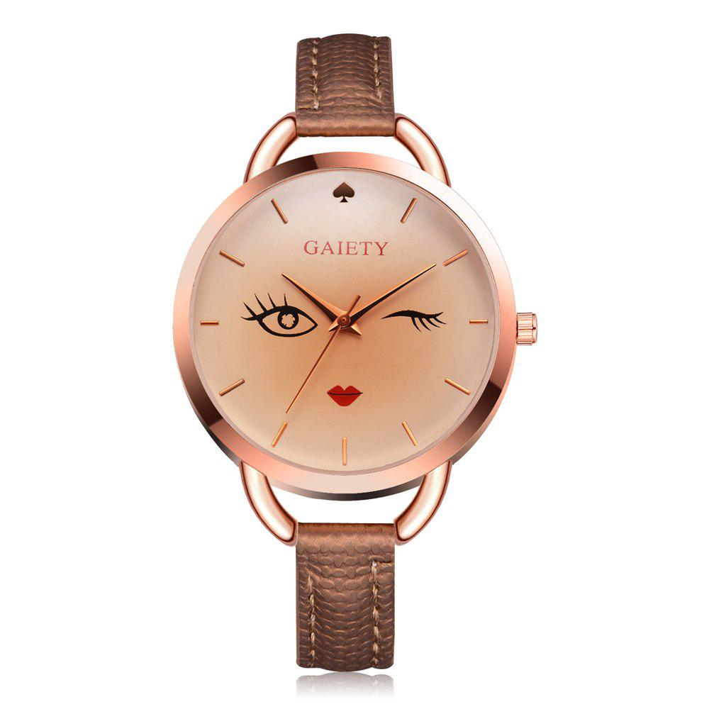 GAIETY G500 Ladies Rose Gold Fashion Watch - BROWN