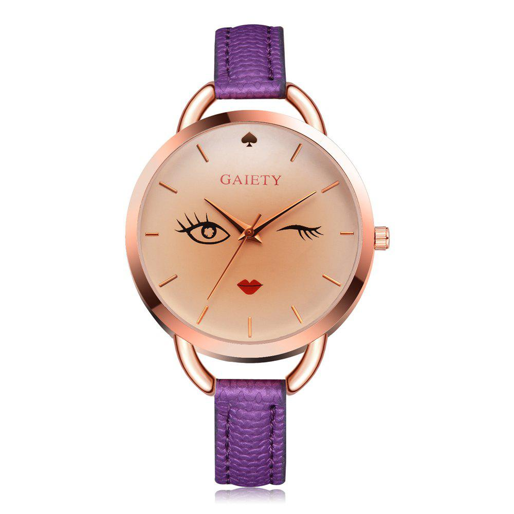 GAIETY G500 Ladies Rose Gold Fashion Watch - PURPLE