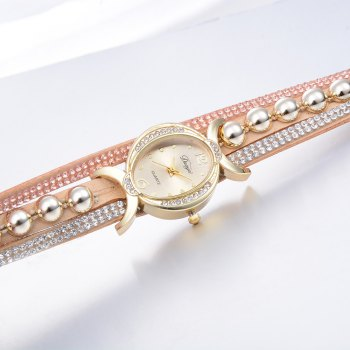 DUOYA D157 Women Bracelet Luxury Watch New Wrist Watch -  BEIGE