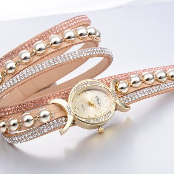 DUOYA D157 Women Bracelet Luxury Watch New Wrist Watch - BEIGE BEIGE