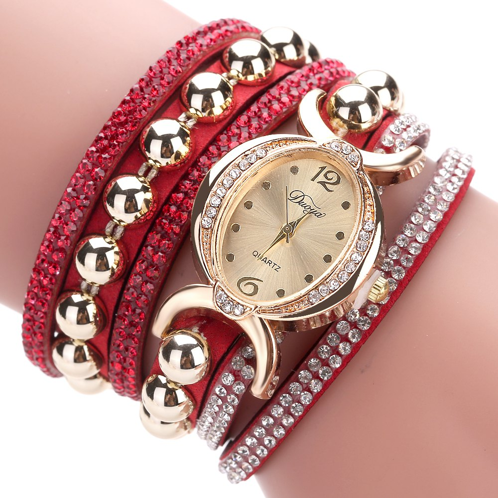 DUOYA D157 Women Bracelet Luxury Watch New Wrist Watch - RED