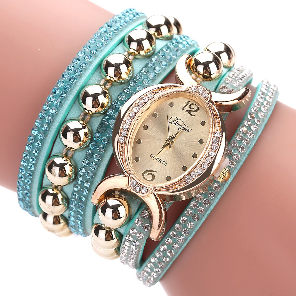 DUOYA D157 Women Bracelet Luxury Watch New Wrist Watch - SKY BLUE