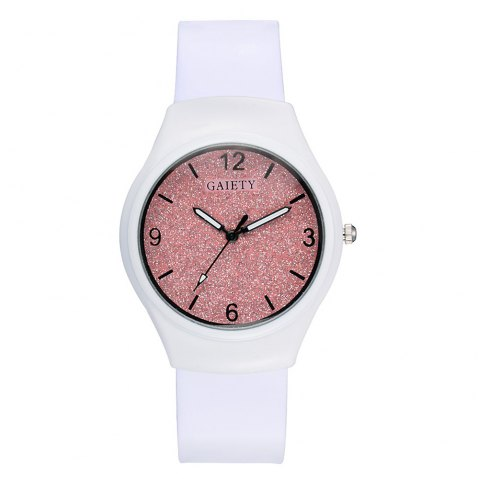 GAIETY G466 Girls White Leather Watch - PINK